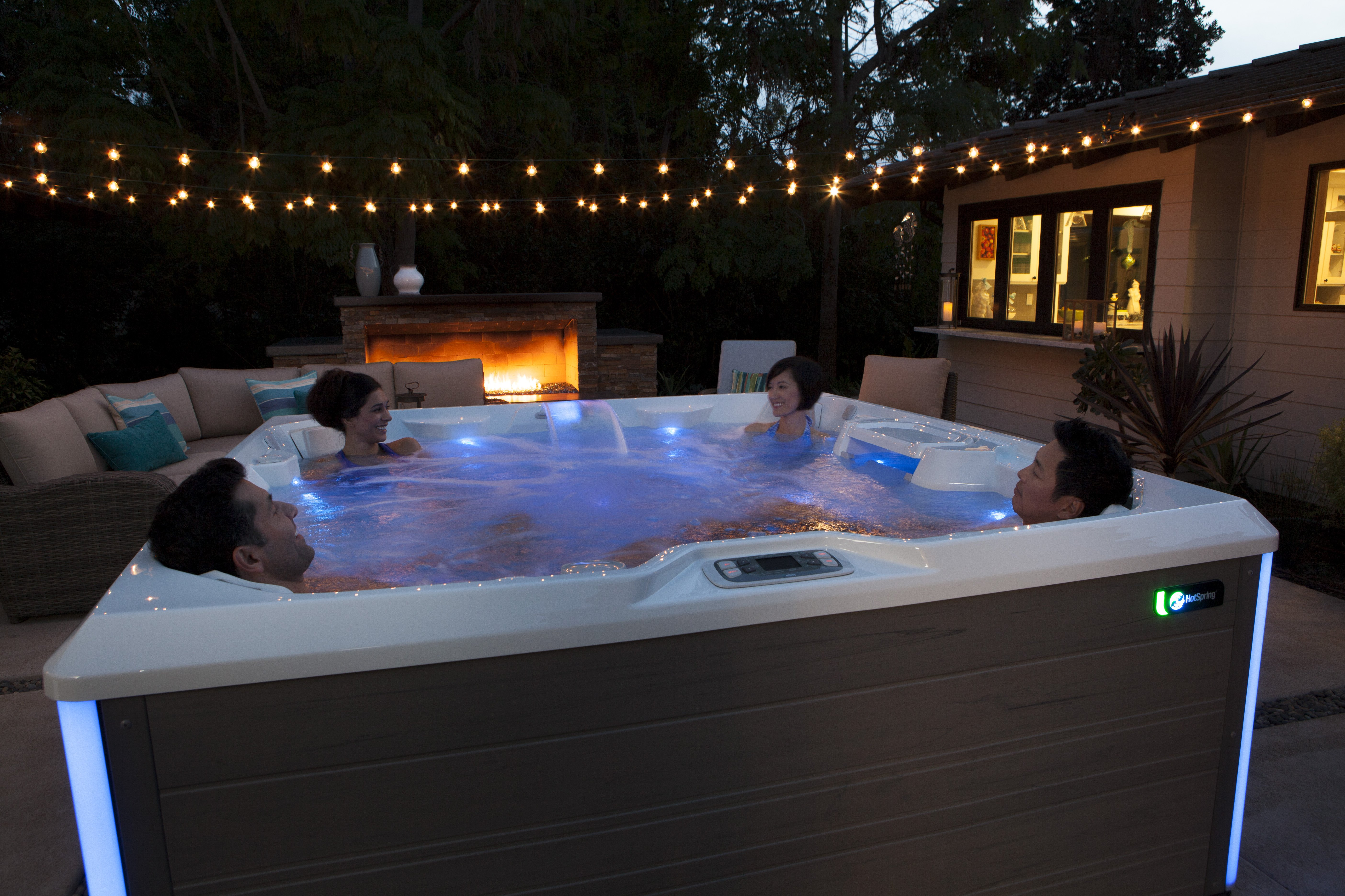 Heavenly Times in a Hot Spring Hot Tub